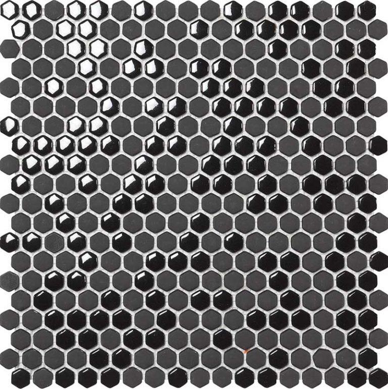 Hexagon Black Pol/Matt