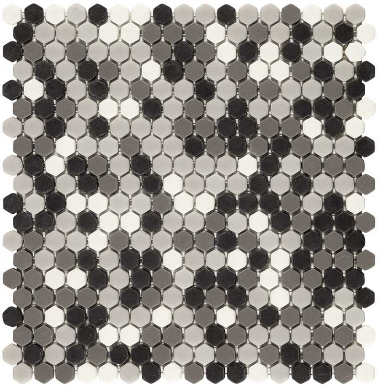 Hexagon Grey Mix Matt