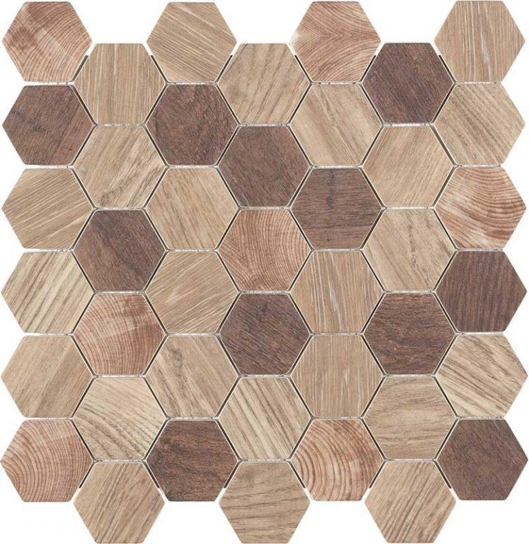 Esa Glass Wood Beige