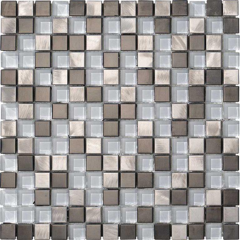 Metalglass Quadri Silver