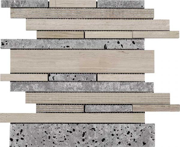 Multi Patchwork White Wood